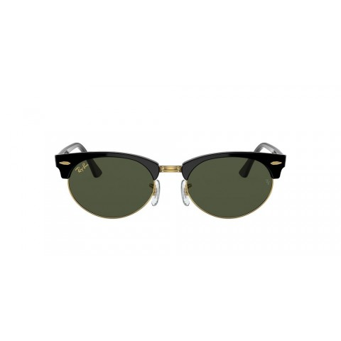 RB3946 CLUBMASTER OVAL LEGEND GOLD Black/Green